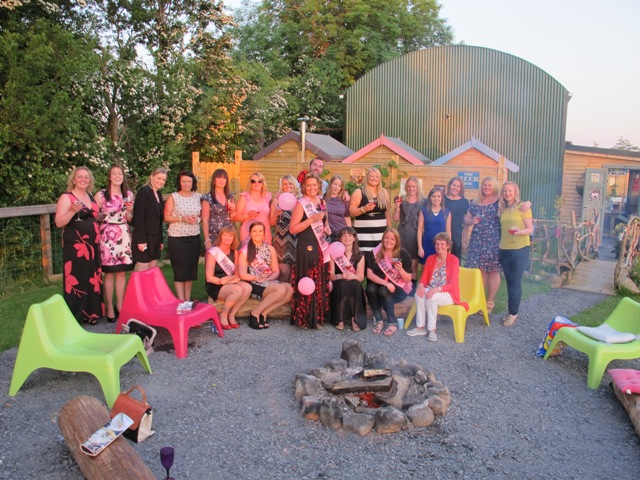 picture of hen group- wildflower glamping